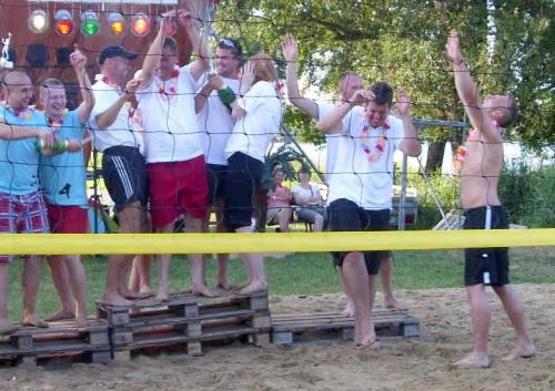Siegerehrung beim Volleyballturnier 2011
